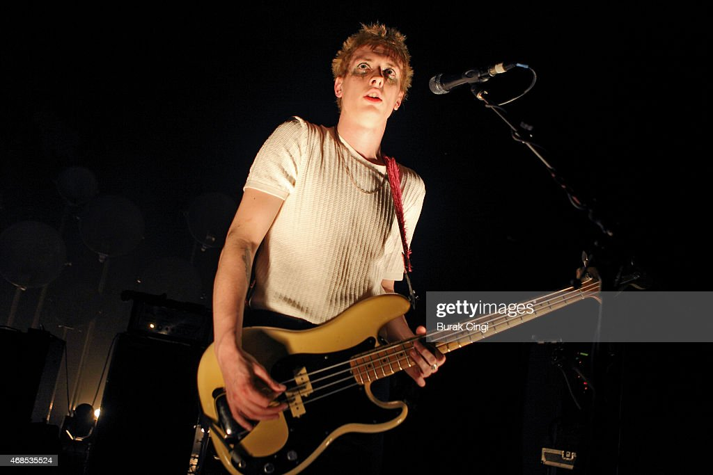 Theo Ellis of Wolf Alice performs on stage at O2 Shepherd's Bush Empire on April 3, 2015 in London, United Kingdom.