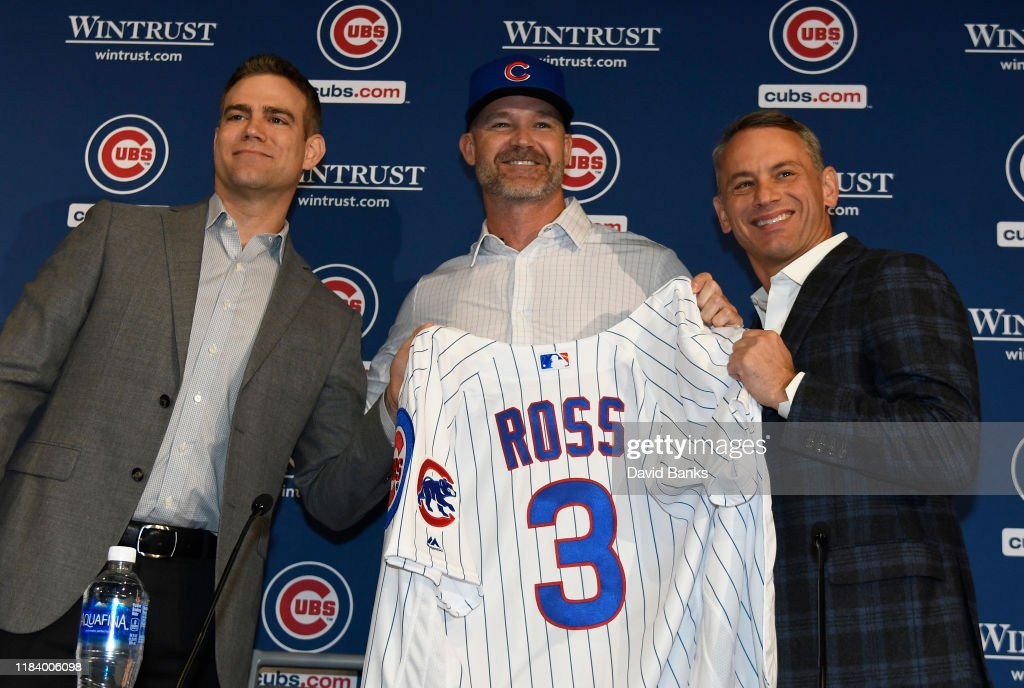 Chicago Cubs Introduce David Ross - News Conference : News Photo