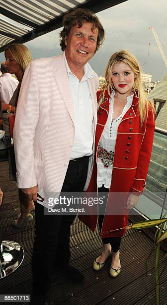 Theo Fennell and daughter Emerald Fennell attend the afterparty following the screening of 'Banksy's Coming For Dinner' at the May Fair Hotel on June...