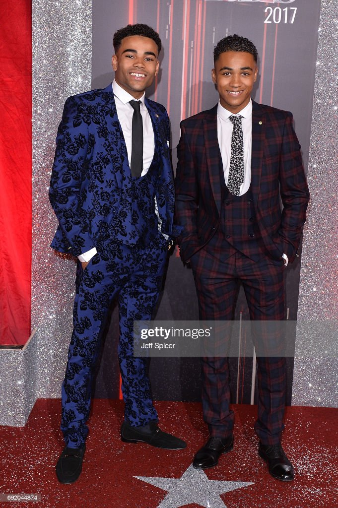 Theo Graham (L) and Malique Thompson-Dwyer attend The British Soap Awards at The Lowry Theatre on June 3, 2017 in Manchester, England. The Soap Awards will be aired on June 6 on ITV at 8pm.