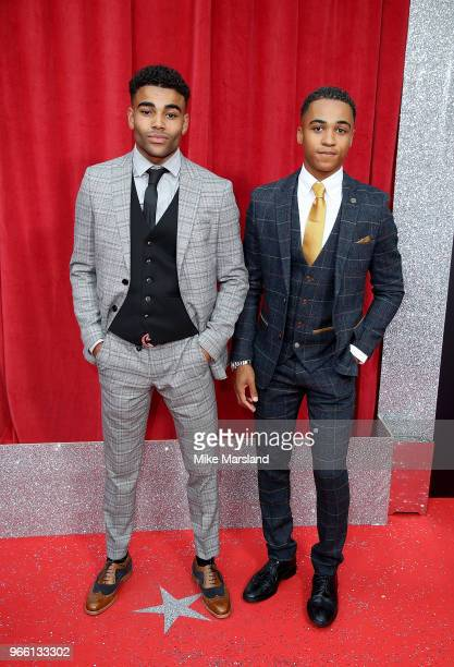 Theo Graham and Malique ThompsonDwyer attend the British Soap Awards 2018 at Hackney Empire on June 2 2018 in London England