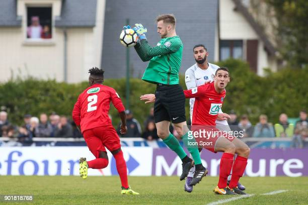 Theo Guivarch of Concarneau during the french National Cup match between Houilles and Concarneau on January 6 2018 in Houilles France