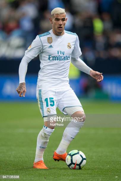Theo Hernandez during the match between Malaga CF against Real Madrid week 32 of La Liga 2017/18 in Rosaleda stadium Malaga SPAIN 15th April of 2018