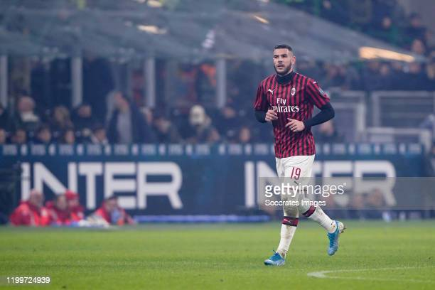 Theo Hernandez of AC Milan during the Italian Serie A match between Internazionale v AC Milan at the San Siro on February 9 2020 in Milan Italy