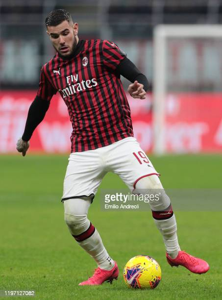 Theo Hernandez of AC Milan in action during the Coppa Italia Quarter Final match between AC Milan and Torino at San Siro on January 28 2020 in Milan...