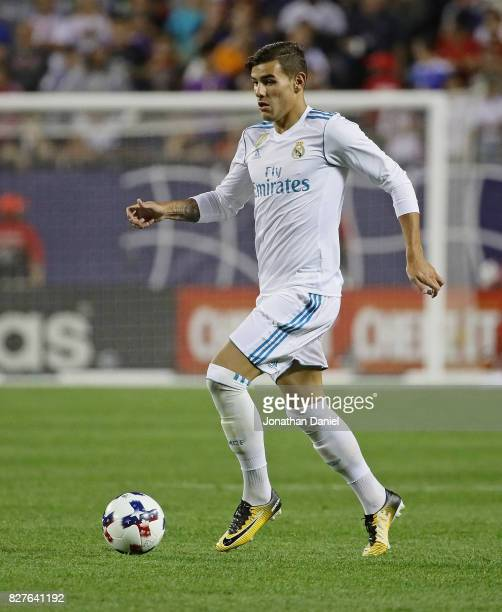 Theo Hernandez of real Madrid controls the ball against the MLS AllStars during the 2017 MLS All Star Game at Soldier Field on August 2 2017 in...