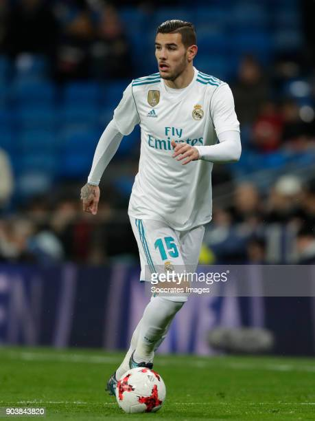 Theo Hernandez of Real Madrid during the Spanish Copa del Rey match between Real Madrid v Numancia on January 10 2018