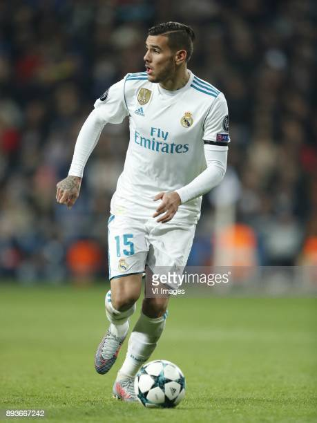 Theo Hernandez of Real Madrid during the UEFA Champions League group H match between Real Madrid and Borussia Dortmund on December 06 2017 at the...