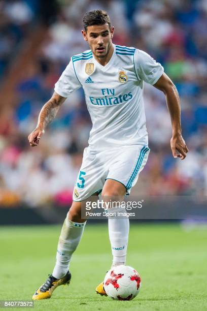 Theo Hernandez of Real Madrid in action during the Santiago Bernabeu Trophy 2017 match between Real Madrid and ACF Fiorentina at the Santiago...