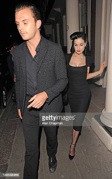 Theo Hutchcraft and Dita von Teese sighting on June 19 2012 in London England