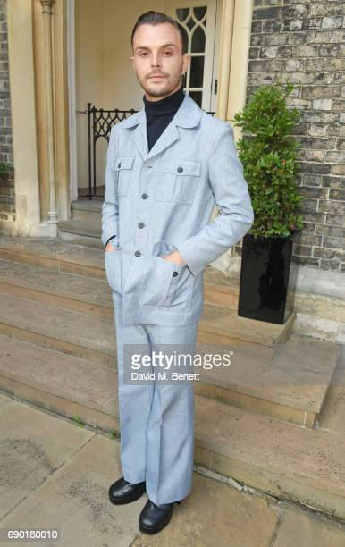 Theo Hutchcraft attends the ALEXACHUNG London Launch Summer 17 Collection Reveal at the Danish Church of Saint Katharine on May 30 2017 in London...