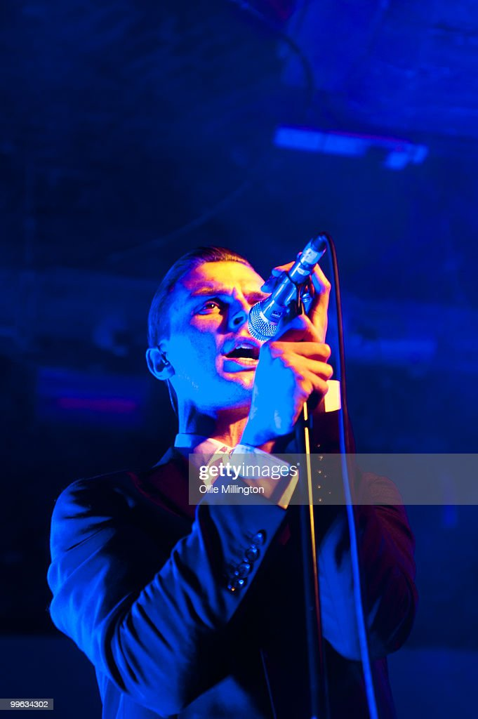 Theo Hutchcraft of Hurts performs on The Fly stage at The Brighton Coalition during day two of The Great Escape Festival on May 14, 2010 in Brighton, England.