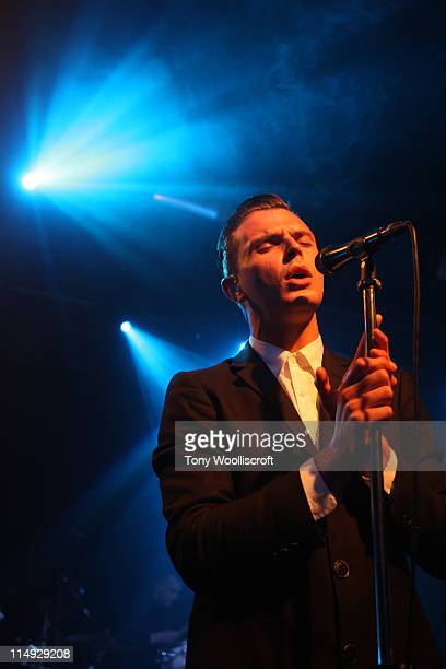 Theo Hutchcraft of The Hurts performs at the Dot To Dot Festival on May 29 2011 in Nottignham England