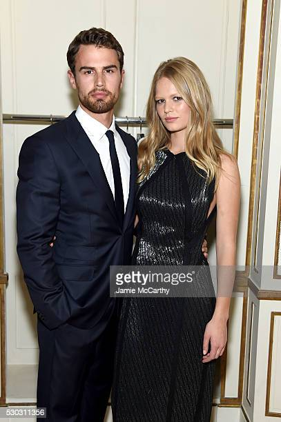 Theo James and Anna Ewers attend the launch of Boss The Scent on May 10 2016 in New York City