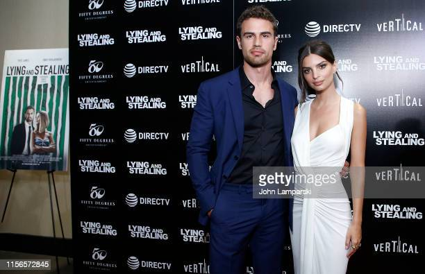 Theo James and Emily Ratajkowski attend Lying And Stealing New York screening at Cinepolis Chelsea on June 17 2019 in New York City