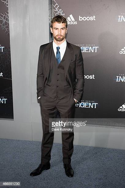Theo James arrives at the 'The Divergent Series Insurgent' New York premiere at Ziegfeld Theater on March 16 2015 in New York City