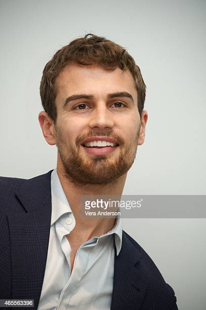 Theo James at the Insurgent Press Conference at the Four Seasons Hotel on March 6 2015 in Beverly Hills California