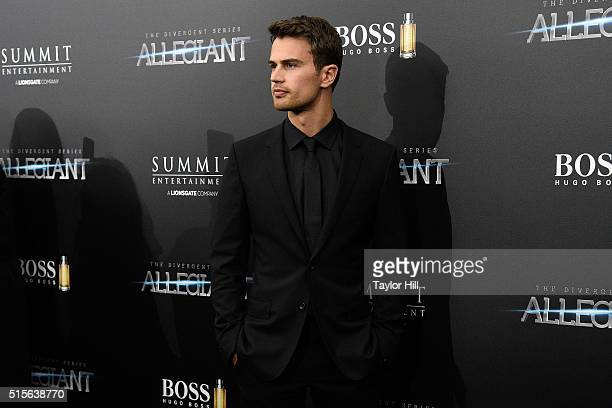 Theo James attends the 'Allegiant' premiere at AMC Loews Lincoln Square 13 theater on March 14 2016 in New York City