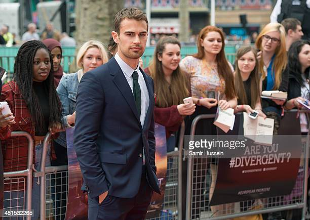 Theo James attends the European premiere of 'Divergent' at Odeon Leicester Square on March 30 2014 in London England