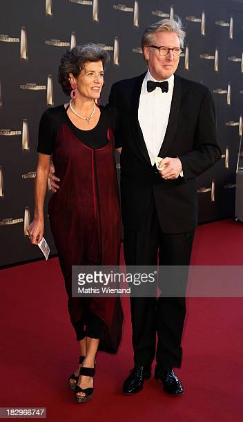 Theo Koll and Franziska zu CastellCastell arrive at the red carpet of the 'Deutscher Fernsehpreis 2013' at Coloneum on October 2 2013 in Cologne...