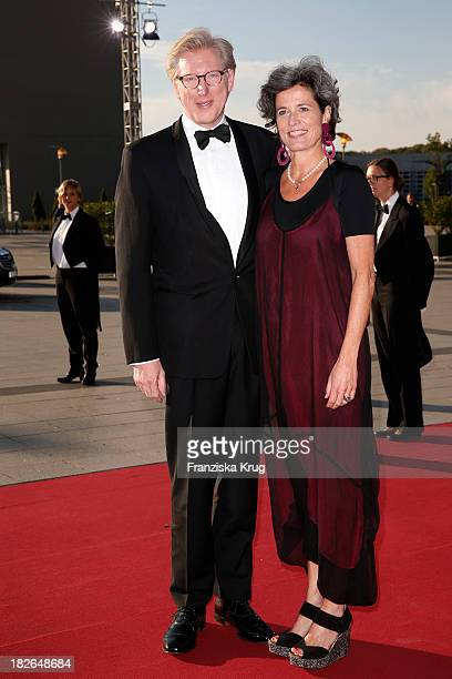Theo Koll and Franziska zu CastellCastell attend the Deutscher Fernsehpreis 2013 Red Carpet Arrivals at Coloneum on October 02 2013 in Cologne Germany