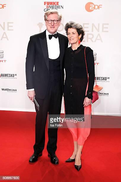 Theo Koll and his wife Franziska Koll attend the Goldene Kamera 2016 on February 6 2016 in Hamburg Germany