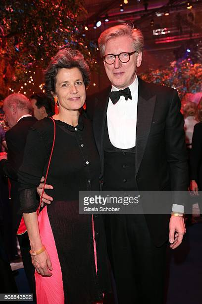 Theo Koll and his wife Franziska Koll during the after show party of the Goldene Kamera 2016 on February 6 2016 in Hamburg Germany