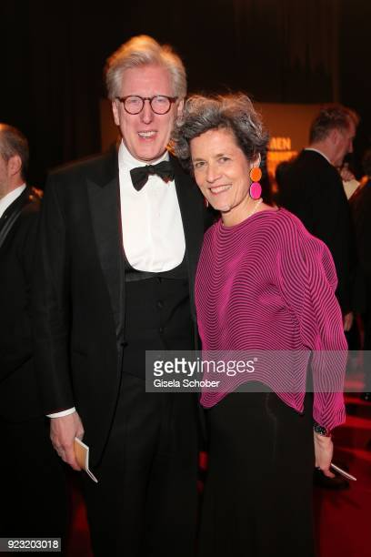 Theo Koll and his wife Franziska Koll during the Goldene Kamera reception on February 22 2018 at the Messe Hamburg in Hamburg Germany