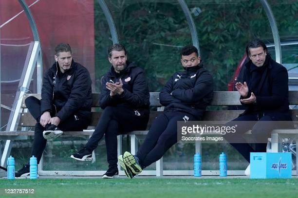 Theo Lucius of PSV U23, Edwin de Wijs of PSV U23, Wilfred Bouma of PSV U23, Ernest Faber of PSV U23 during the Dutch Keuken Kampioen Divisie match...