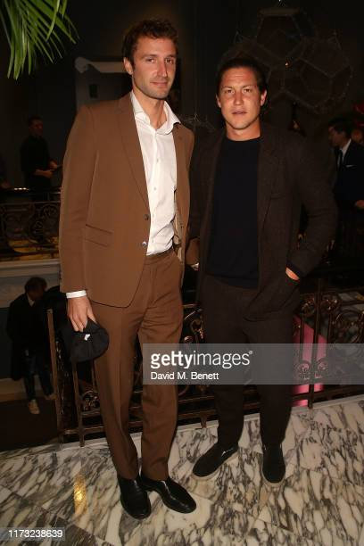 Theo Niarchos and Vito Schnable attends The Evening Standard Frieze Party at The Arts Club on October 2 2019 in London England