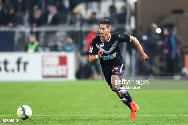 Theo Pellenard of Bordeaux during the Ligue 1 match between FC Girondins de Bordeaux and Olympique Marseille at Stade Matmut Atlantique on November...