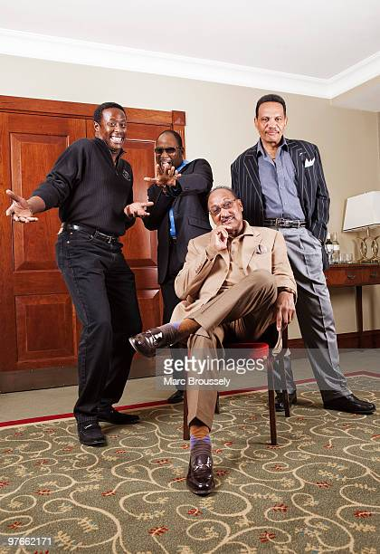 Theo Peoples Lawrence Roquel Payton Jr Abdul Duke Fakir and Ronnie McNeir of The Four Tops pose for portraits at The Grosvenor House Hotel on March 4...