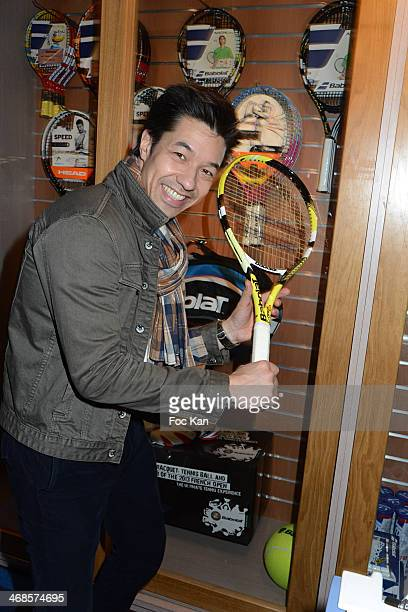 Theo Phan attends the 'Sourire Gagnant' Charity Event to Benefit 'Enfant Star Et Match' At Sporting Tennis Club on February 10 2014 in Paris France