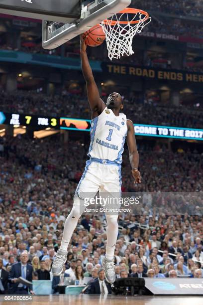 Theo Pinson of the North Carolina Tar Heels shoots the ball during the 2017 NCAA Photos via Getty Images Men's Final Four National Championship game...