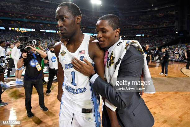 Theo Pinson of the North Carolina Tar Heels walks off the court after the win against the Oregon Ducks during the 2017 NCAA Photos via Getty Images...