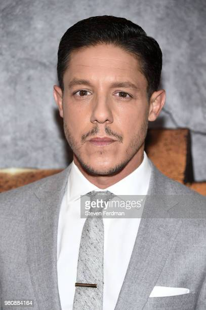 Theo Rossi attends the 'Luke Cage' Season 2 premiere at The Edison Ballroom on June 21 2018 in New York City