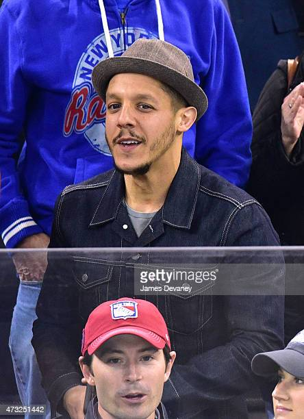 Theo Rossi attends the Washington Capitals vs New York Rangers game at Madison Square Garden on May 13 2015 in New York City