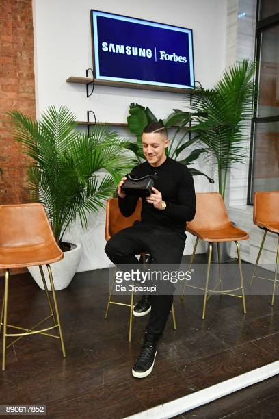 Theo Rossi experiences Samsung Gear VR during a party to celebrate the productÕs two year anniversary on December 11 2017 in New York City