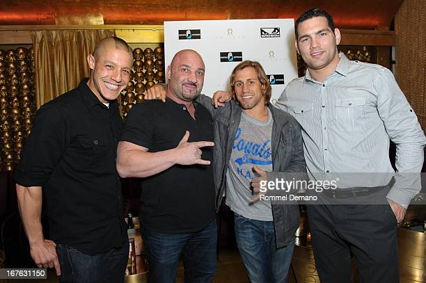 Theo Rossi Jay Glazer Urijah Faber and Chris Weidma attend the Help Rebuild New York benefit at Gold Bar on April 26 2013 in New York City