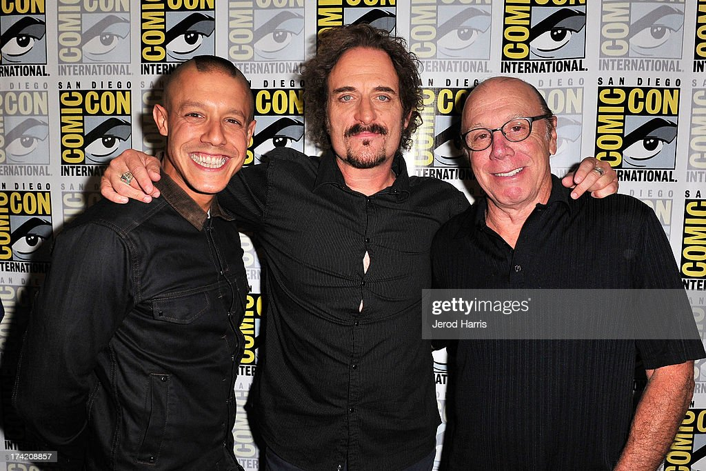 Theo Rossi, Kim Coates and Dayton Callie attend the 'Sons Of Anarchy' press line during Comic-Con International 2013 at San Diego Convention Center on July 21, 2013 in San Diego, California.