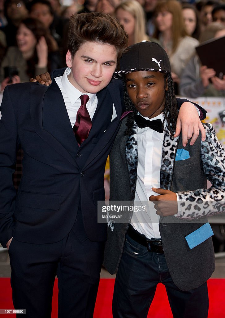 Theo Stevenson and Akai Osei attends the UK Premiere of 'All Stars' at the Vue West End cinema on April 22, 2013 in London, England.