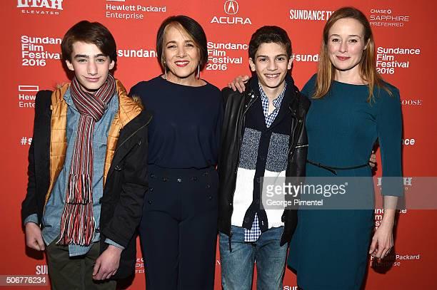 Theo Taplitz Paulina Garcia Michael Barbieri and Jennifer Ehle attend the 'Little Men' Premiere during the 2016 Sundance Film Festival at Eccles...