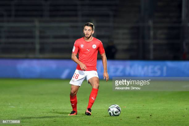 Theo Valls of Nimes during the Ligue 2 match between Nimes and Aj auxerre on September 15 2017 in Nimes France