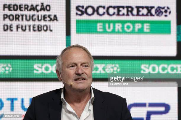 Theo Van Seggelen General Secretary FIFPRO talks during Day 1 of Soccerex Europe Convention at Tagus Park on September 5, 2019 in Lisbon, Portugal.