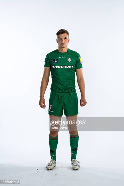 Theo Vukasinovic of London Irish poses for a picture during the BT PhotoShoot at Sunbury Training Ground on August 27 2014 in Sunbury England