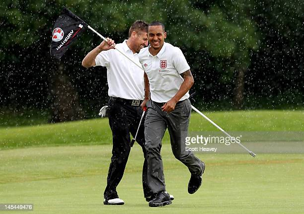 Theo Walcott during a Vauxhall Golf Day for the England Football team at The Grove Hotel on May 30 2012 in Hertford England