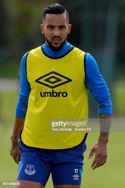 Theo Walcott during the Everton FC training session at USM Finch Farm on May 1 2018 in Halewood England