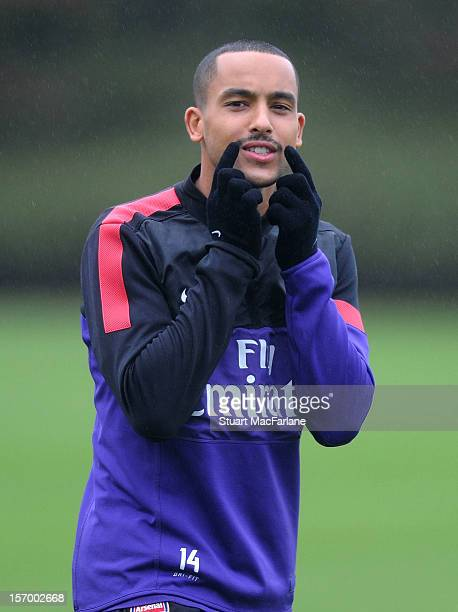 Theo Walcott of Arsenal during a training session at London Colney on November 27, 2012 in St Albans, England.