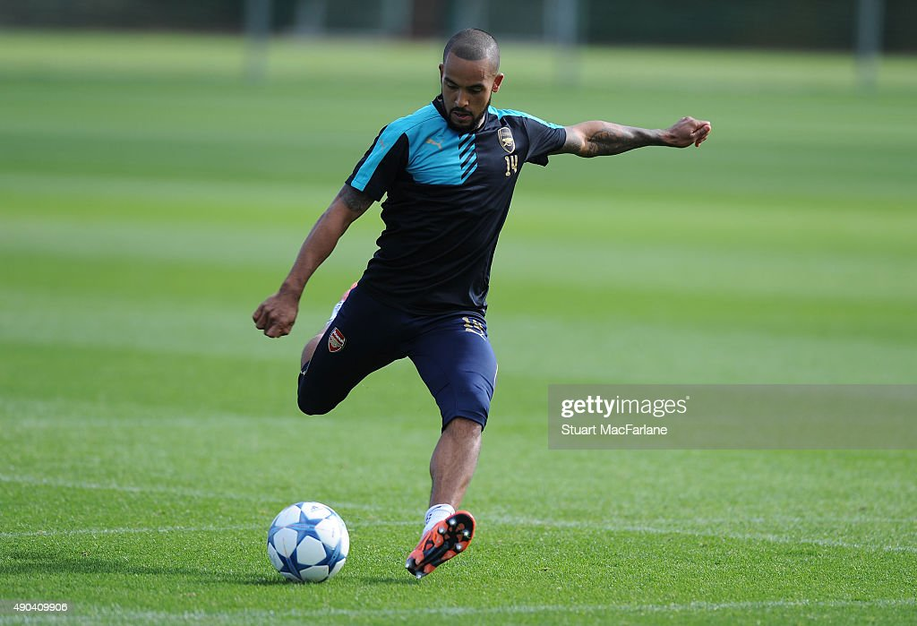 Arsenal Training Session and Press Conference : News Photo
