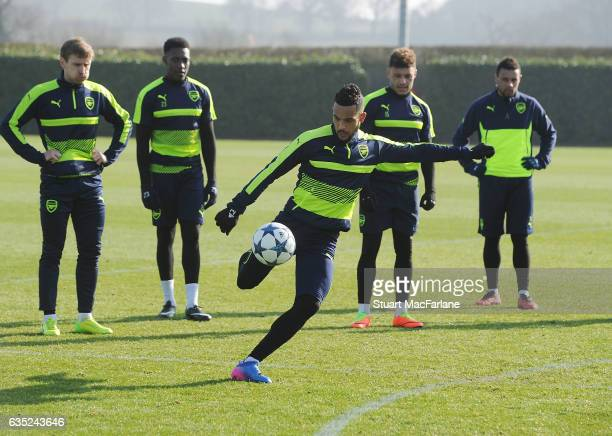 Theo Walcott of Arsenal during a training session at London Colney on February 13 2017 in St Albans England